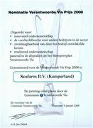 Nominatie Verantwoorde Vis prijs 2008